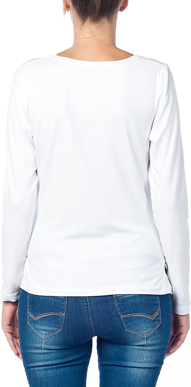 V/êtement de Maternit/é Humoristique T-Shirt Mignon /à Motifs Cadeau pour Grossesse Femme Humour Tee Haut Vetement de Maternite /à Manches Longues