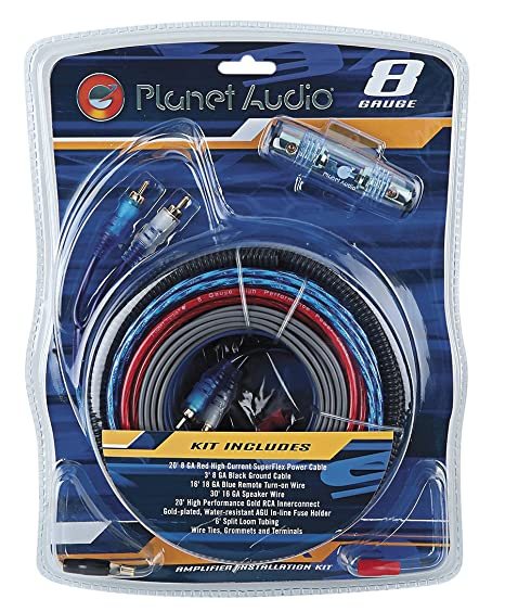 amazon com planet audio 8gpk 8 gauge amplifier installation wiring