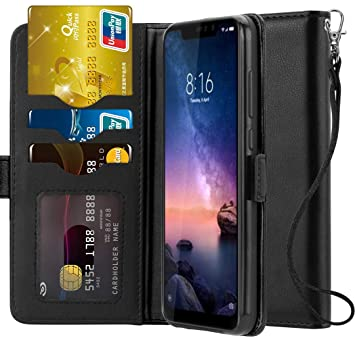 Ferilinso Funda para Xiaomi Redmi Note 6 Pro,Carcasa Cuero Prima Auténtico Real con ID Tarjeta de Crédito Tragamonedas Soporte de Flip Cover Estuche ...