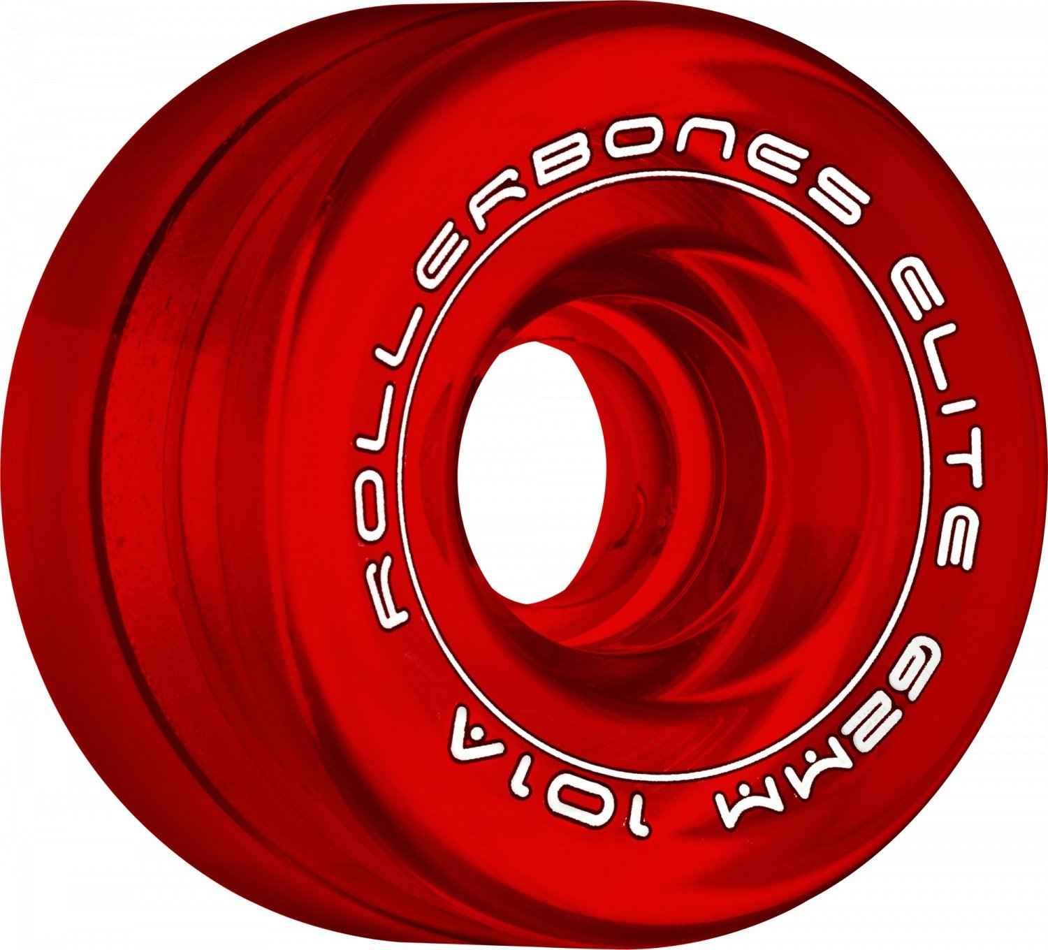 RollerBones Art Elite Competition 101a Roller Skate Wheels - Red - 62mm by RollerBones