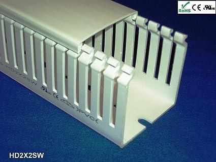 Excellent Amazon Com 2 Inx2 Inx2M Open Slot Finger Wiring Duct Cable Wiring Cloud Inamadienstapotheekhoekschewaardnl