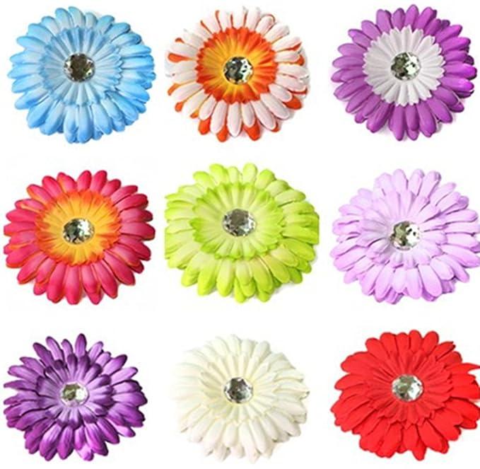 Amazon Mshui Crystal Gerbera Daisy Flower Hair Clip Crochet