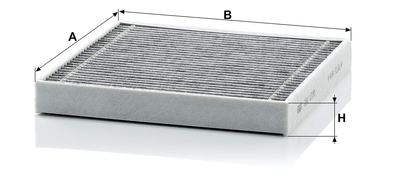 Pour v/éhicules particuliers Original MANN-FILTER Filtre dhabitacle CUK 2339 Filtre /à charbon actif