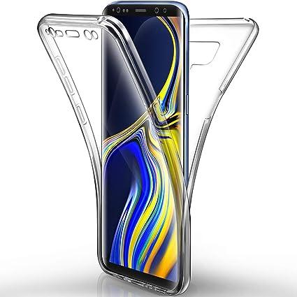 Aroyi – Carcasa Samsung Galaxy Note 9 – Funda, Transparente Silicona Gel Case Completo 360 degres Full Body Protección antiarañazos Carcasa Funda para ...