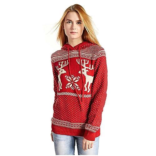 Christmas Tree Sweater Womens: Women's Red Christmas Sweater: Amazon.com