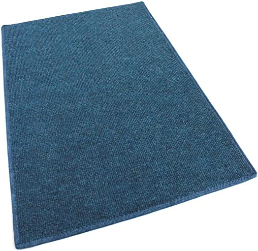12 x24 Rectangle – Ocean Blue – Economy Indoor Outdoor Carpet Patio Pool Area Rugs Light Weight Indoor Outdoor Rug – Easy Maintenance – Just Hose Off Dry – 10 Colors to Choose from
