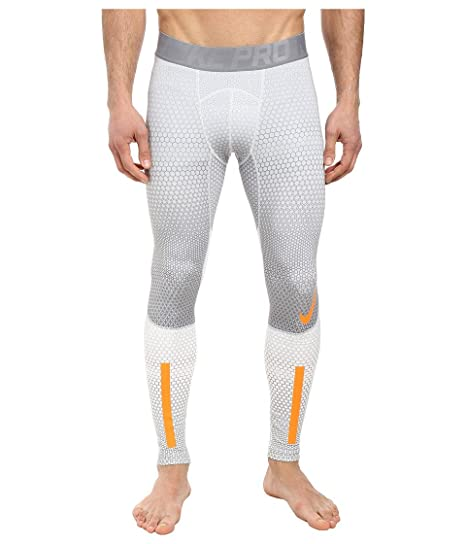 91990e61094ea Mens Nike Pro Combat Hyperwarm Compression 2.0 Tights Pants (S, White (100)