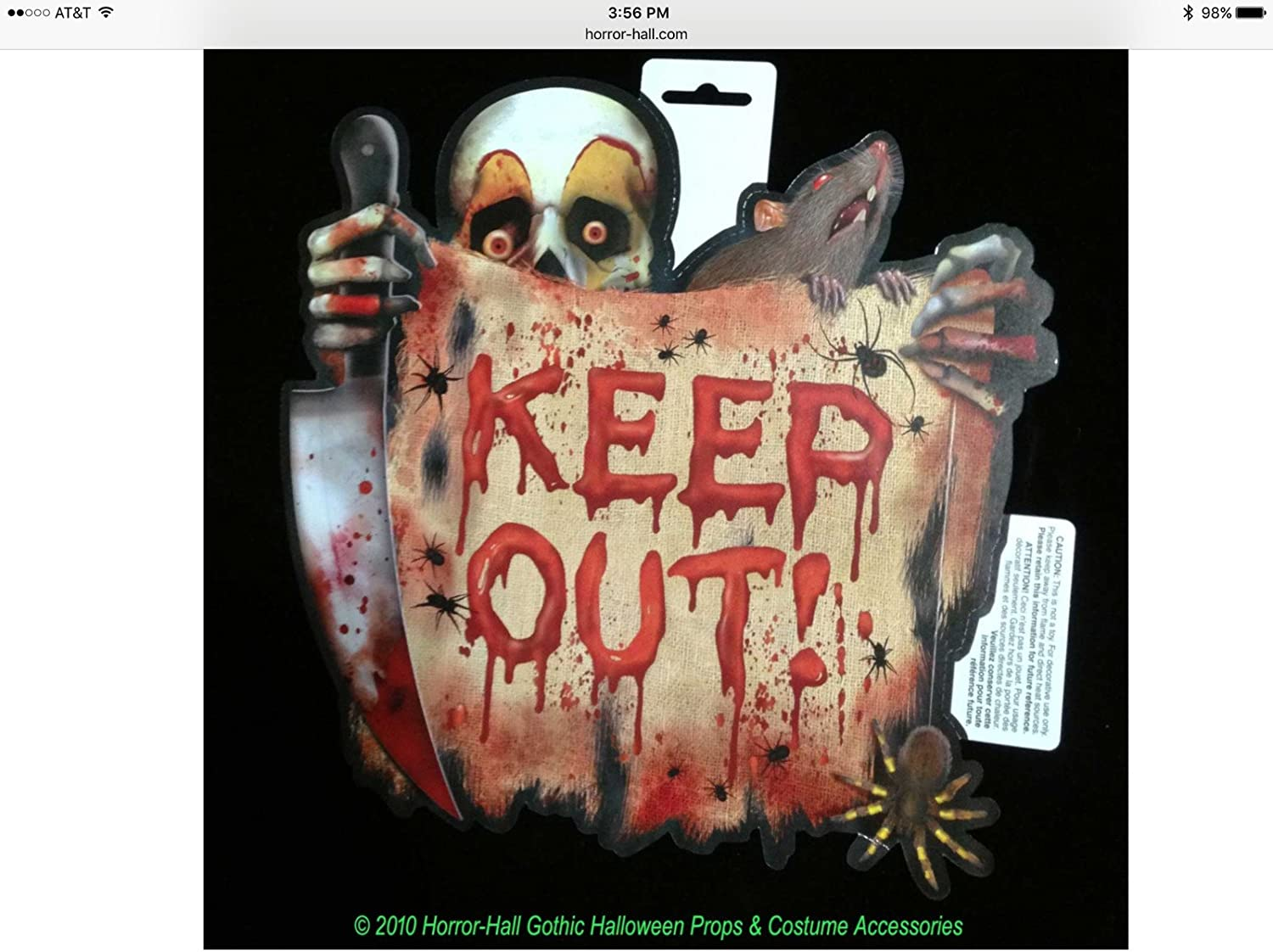 Halloween porte topper Keep Out