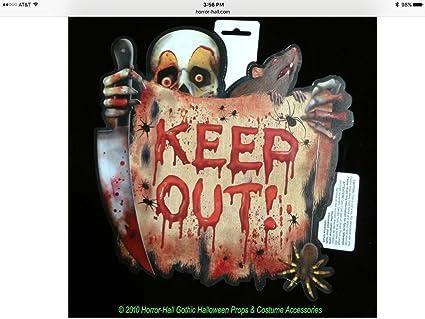 Creepy Clown Halloween Decorations.Amazon Com Creepy Clown Keep Out Sign Halloween Party