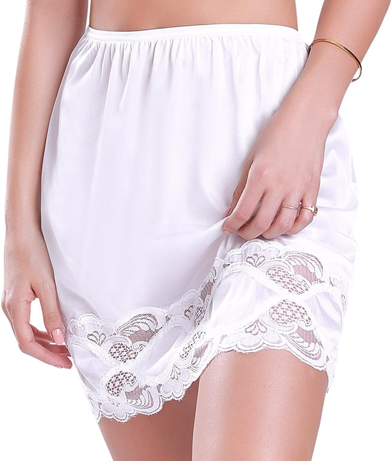 Ilusion Womens Classic Half Slip Skirt with Lace Trim 1017//1817
