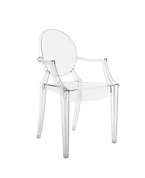 Kartell Louis Ghost Chairs 4852B4, 55x54x93 cm, Transparent Pack of 2
