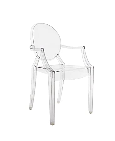 Kartell Louis Ghost Chairs 4852B4 55x54x93 cm, Transparent Pack of 2 ...