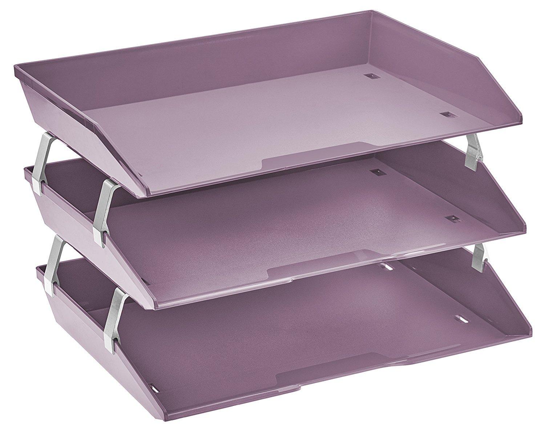 Acrimet Bandeja Portadocumentos 3 Niveles Para Cartas Facility (Color Morado Solido): Amazon.es: Oficina y papelería