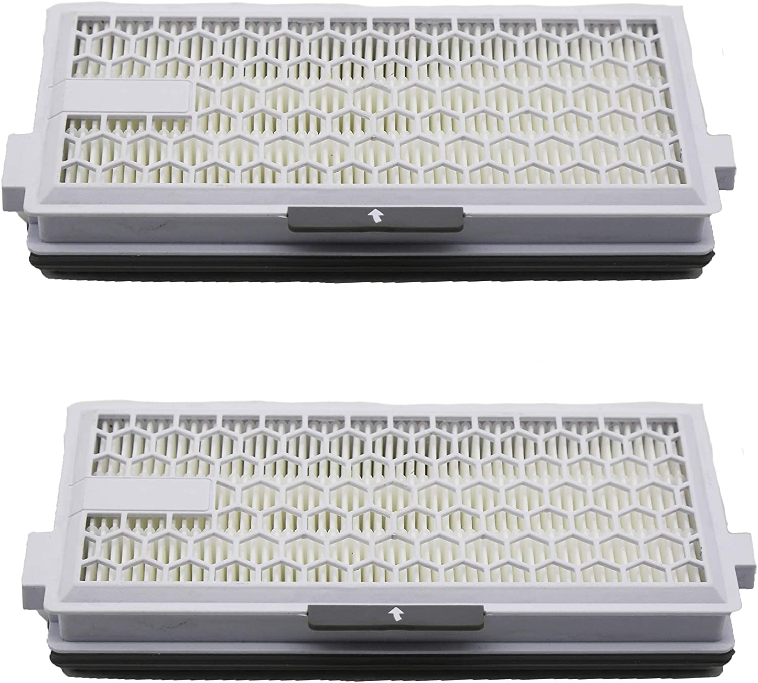 Green Label Lot de 2 Filtres HEPA de Rechange AirClean sans Timestrip pour les Aspirateurs Miele Alternative /à SF-HA 50