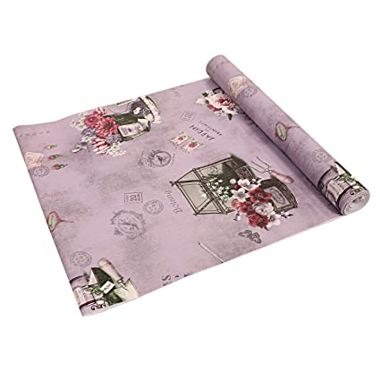 Kuber Industries PVC Wardrobes Shelf Mat,Kitchen ShelfMat/Drawer Mat - 5 Mtr Roll Multicolor
