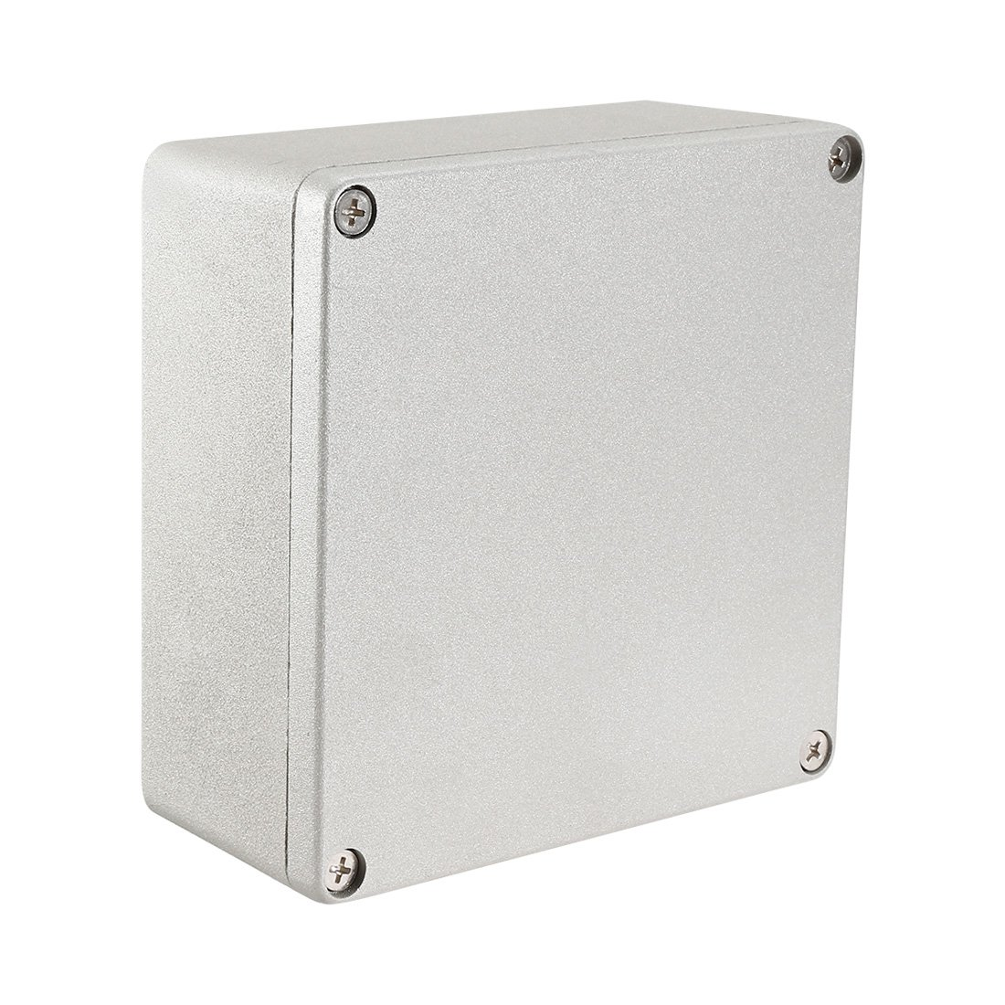 uxcell 6.3''x6.3''x2.8'' Aluminum Junction Boxes Electrical Project Metal Enclosure Waterproof IP65 w Two Horns/Six screws, Abrasion Resistant, Good Heat Dissipation for Outdoor