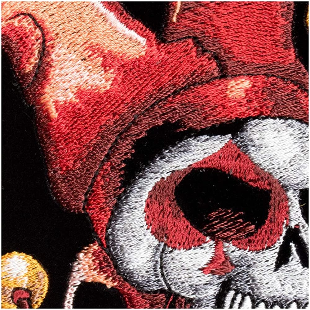 Joker Face With Red Jester Hat Patch Medium Size