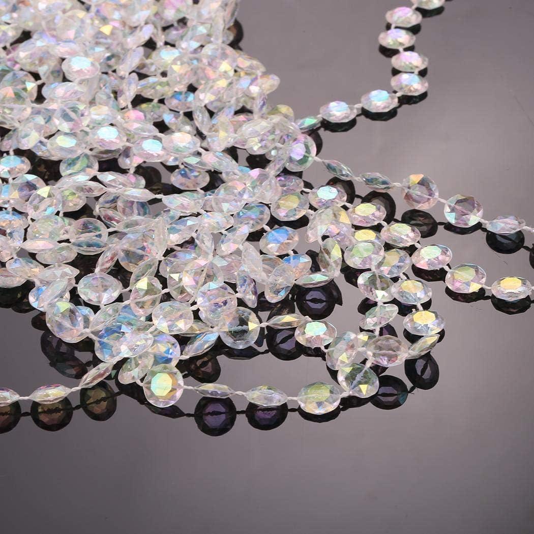Xuprie 1 Pack Beads Octagonal Crystal Beads Window Door Curtains DIY Decoration Jewelry Making Display /& Packaging Supplies