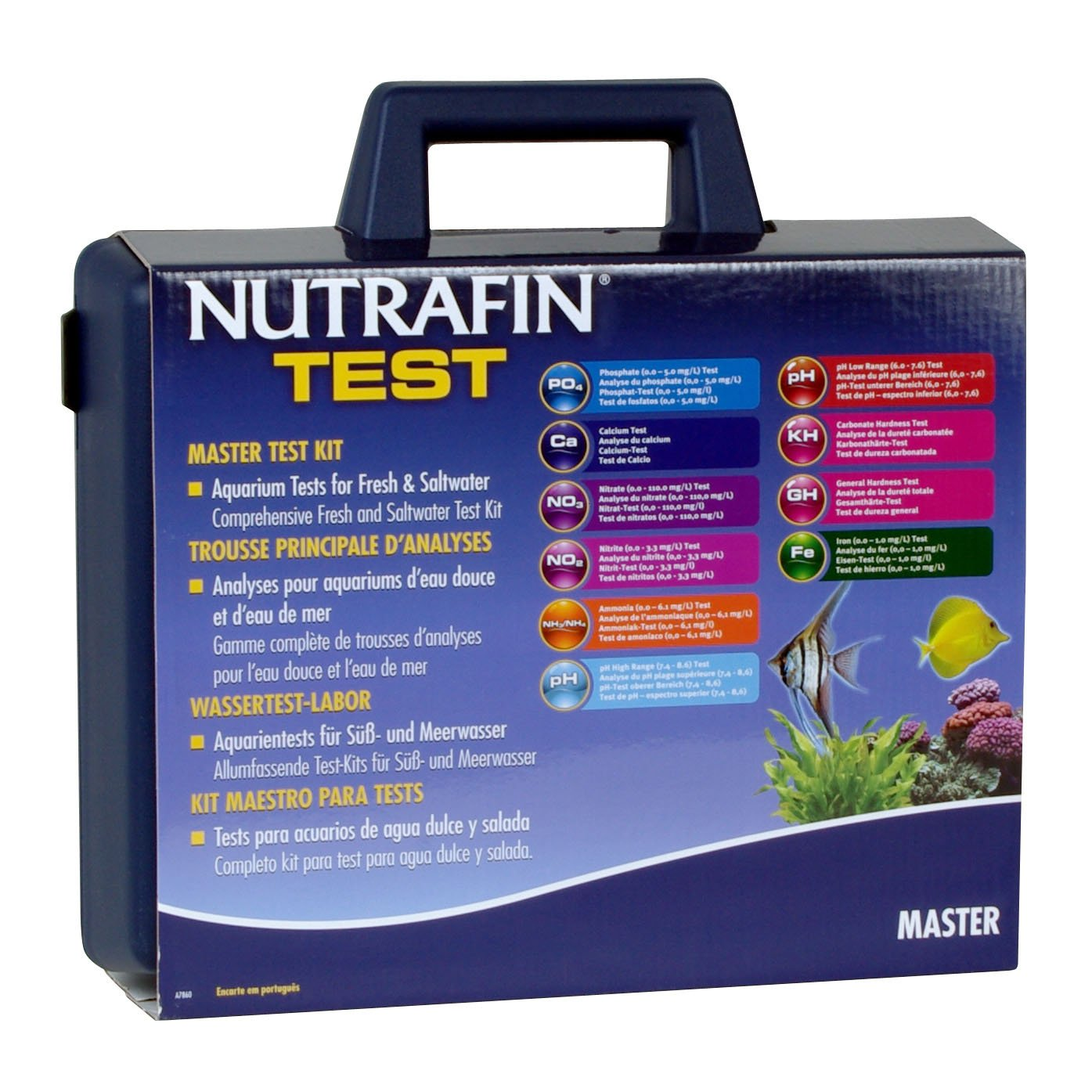 Nutrafin Master Test Kit, Contains 10 Test Parameters by Nutrafin