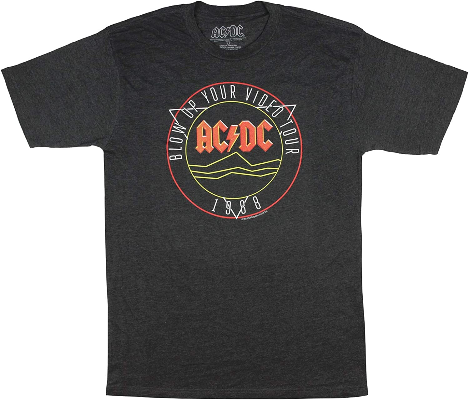 AC//DC Blow Up Your Video Adult T Shirt Heavy Metal Music