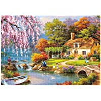 Karooch High Difficulty Landscape Puzzle 1000 Piece Jigsaw Puzzle Kids Adult –Country Quiet Life Jigsaw Puzzle, Large Puzzle Game Interesting DIY Personalized Gift Puzzles Toys 16.5x11.7 Inch