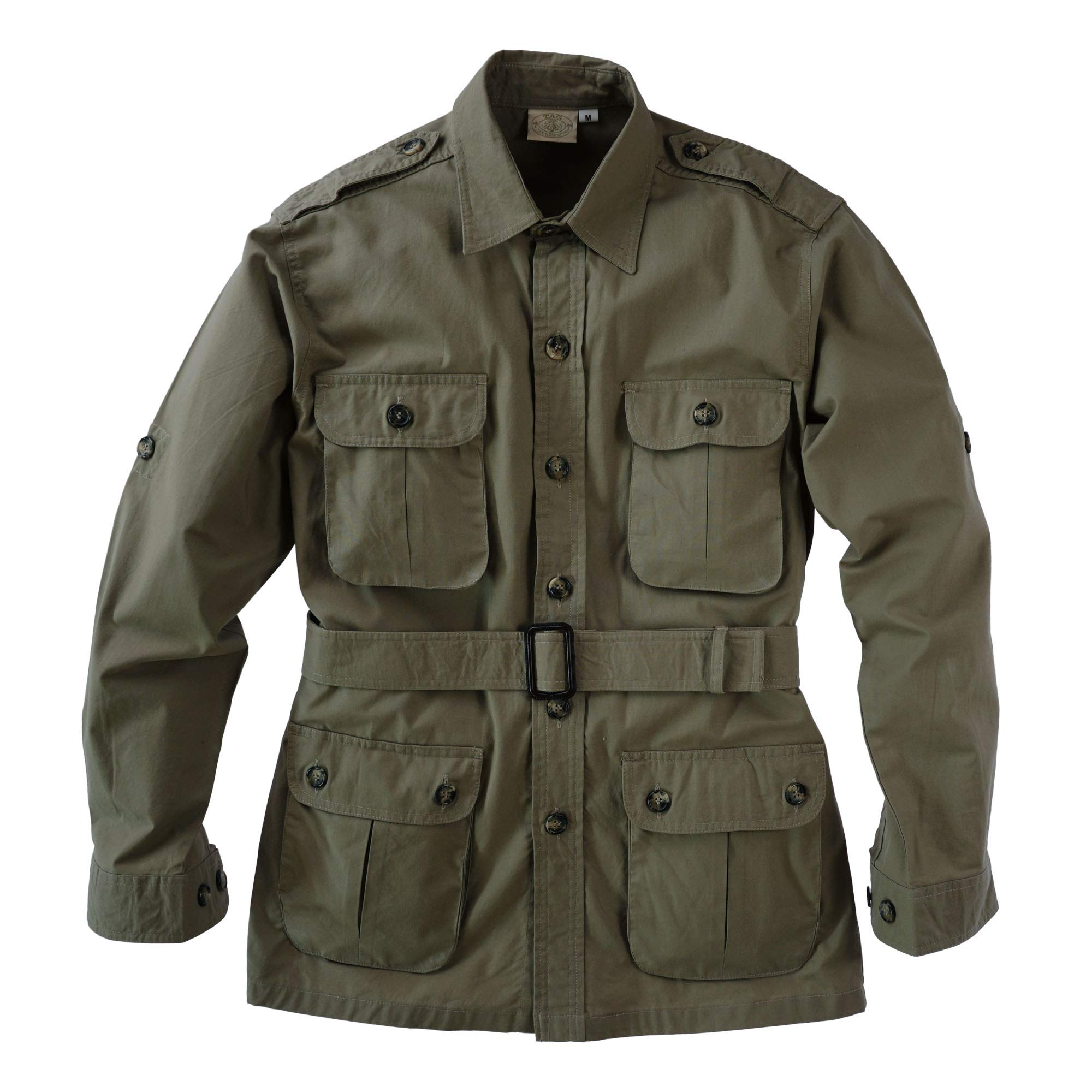 Tag Safari Jacket for Men, Lightweight, Multi Pockets, Perfect for Explorers, Photographers and Journalists by Tag Safari