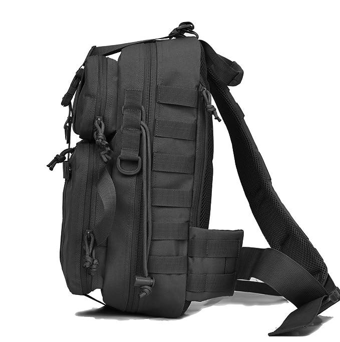 Amazon.com  Tactical Sling Pack Military Assault Molle Hunting Range  Shoulder Sling Bug Out Bag Backpack Daypack  LEOVO e5600f367db45