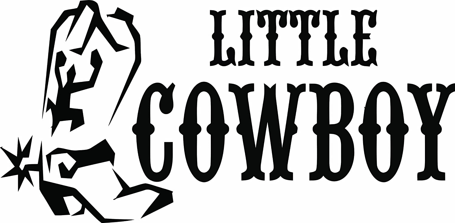 Black 20-Inch By 30-Inch Design with Vinyl Design 137 Vinyl Wall Decal Little Cowboy