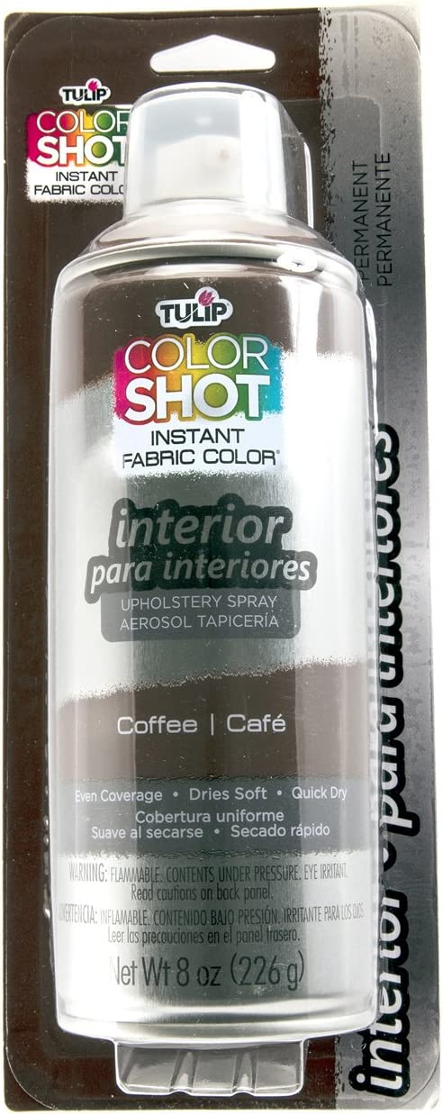 Tulip ColorShot Instant Fabric Color Interior Upholstery Spray 8 oz - Coffee