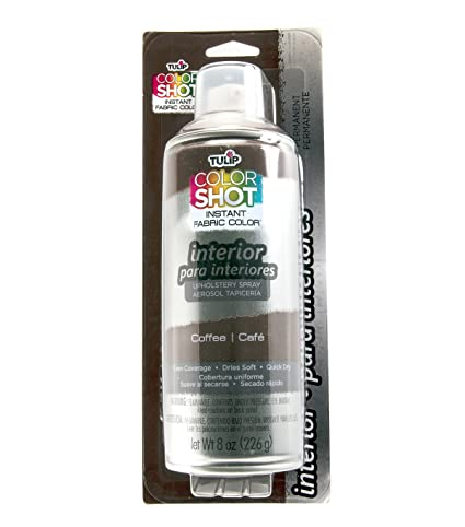 Amazon.com: Tulip ColorShot Instant Fabric Color Interior Upholstery Spray 8 oz - Coffee