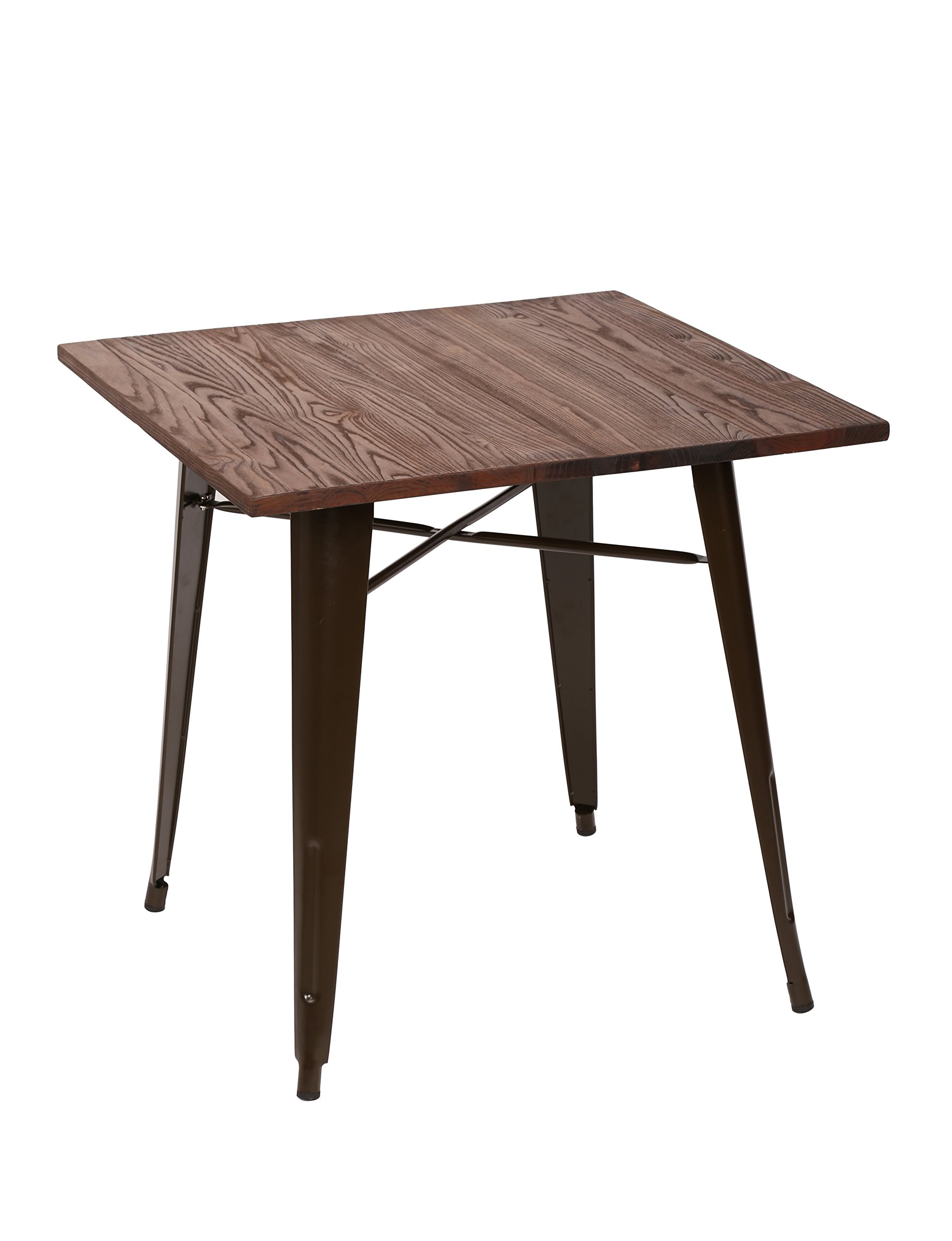 Fancyhouse Square Dining Table Wooden Top Bistro Cafe Table Parkland Pub Studio Collection