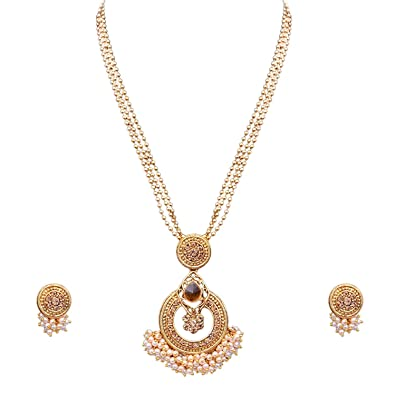 6acd0e73960 Buy Sitashi Fashion Imitation Jewellery White Pearl Necklace Set for Girls  and Women for Wedding Online at Low Prices in India