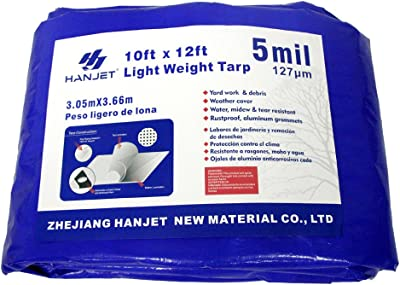 Hanjet Multi Purpose Waterproof Tarp 10 x 12 Feet