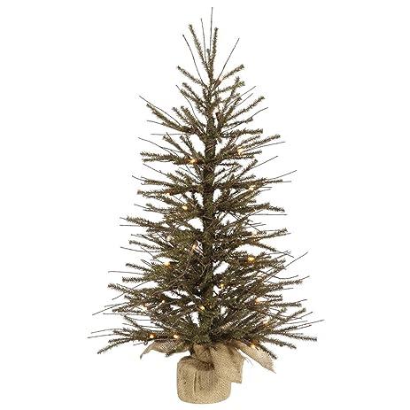 3' Vienna Twig Artificial Christmas Tree with Burlap Base - Clear Dura-Lit  Lights - Amazon.com: 3' Vienna Twig Artificial Christmas Tree With Burlap