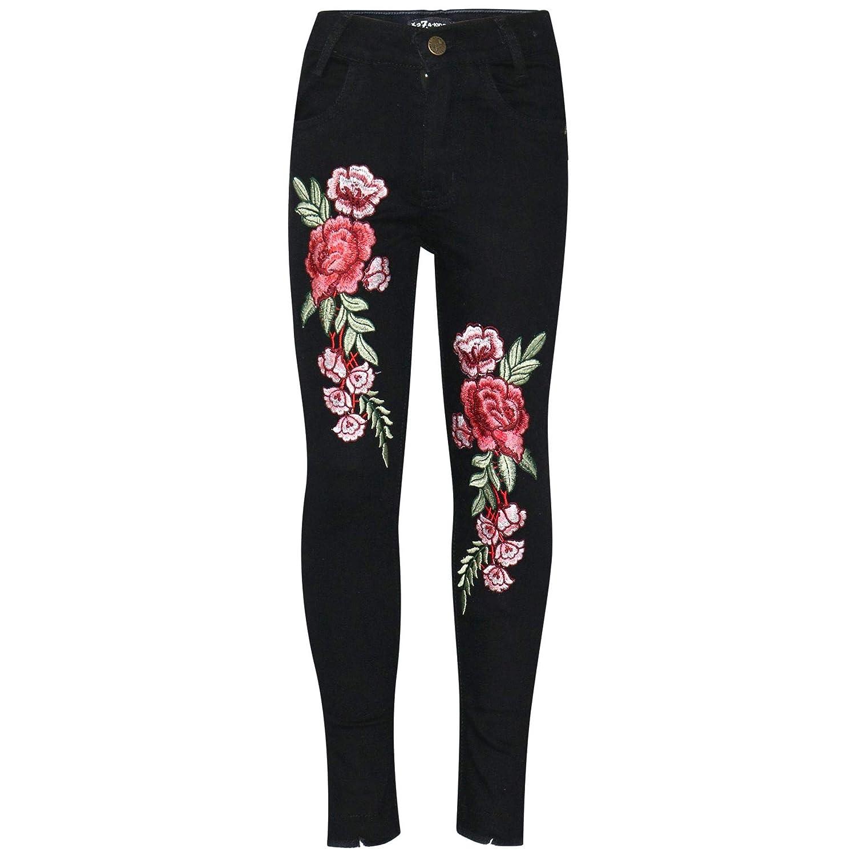 Amazon.com: A2Z - Pantalones vaqueros para niñas elásticos ...
