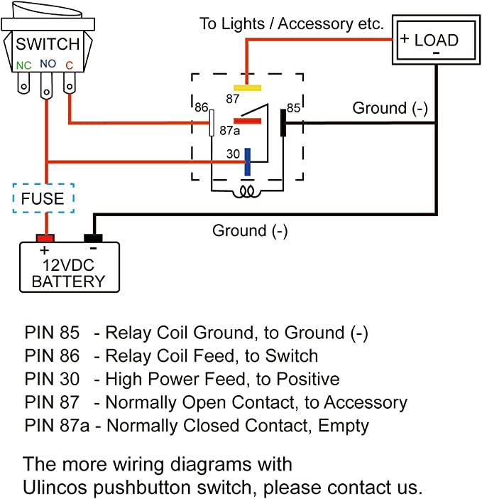 5 Pin Relay Wiring Diagram 87A from images-na.ssl-images-amazon.com
