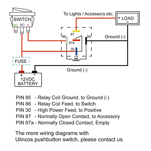 12v Normally Open Relay Diagram Wiring Schematic | Wiring ... on