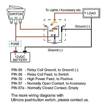 71lCbMzqaoL._SY355_ amazon com ulincos auto relay u1914 with 14awg wire harness, 12v H8QTB Ford Relay Wiring Diagram at metegol.co