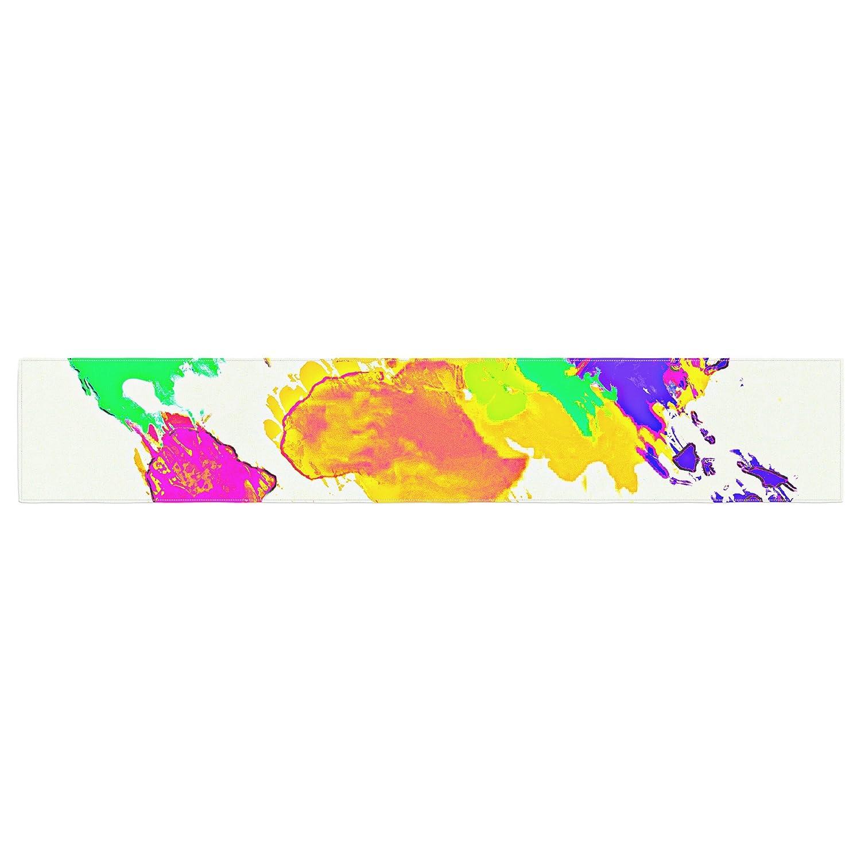 Kess InHouse Oriana Cordero My World Rainbow Map Table Runner