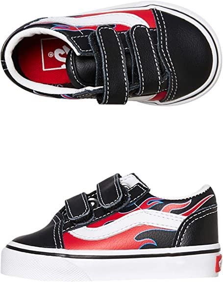Vans Old Skool V (Moto Flame) BlackRacing RED