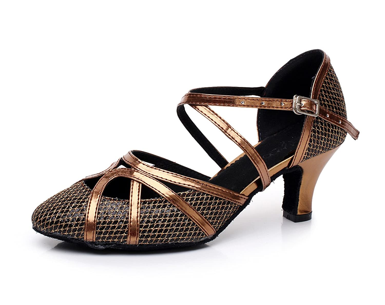 JSHOE Latine Chaussures De Danse Latine Chaussures Net Flash Pour Femme Talons Salsa/Tango/Thé/Samba/Moderne/Jazz Chaussures Sandales Talons Hauts,PhotoColor-heeled8cm-UK6.5/EU40/Our41 - 10b3aec - boatplans.space