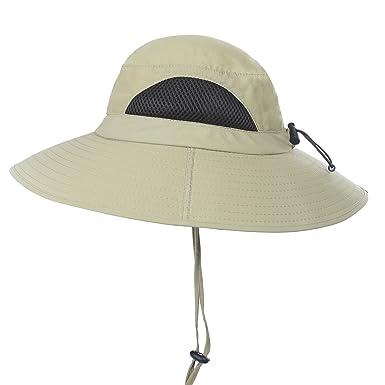 f7fe9a141d0 Welrog Men s Waterproof Sun Hat - Sportswear Bora Bora Booney Outdoor Sun  Protection Bucket Safari Cap