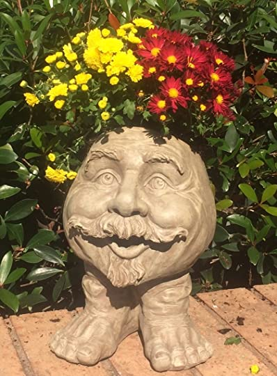 Muggly's Homestyles 37107 Uncle Nate Planter 18″ Stone Wash Garden Statue