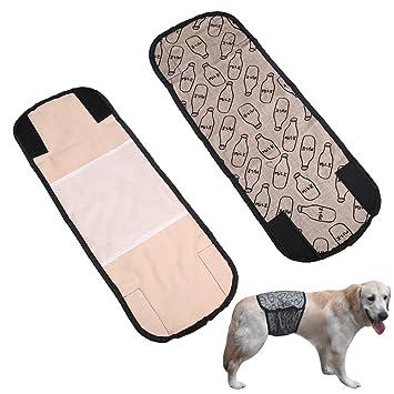 yunt reutilizable lavable mascotas fisiológicos Pantalones Pañales de macho de perro de cachorro de bandas de