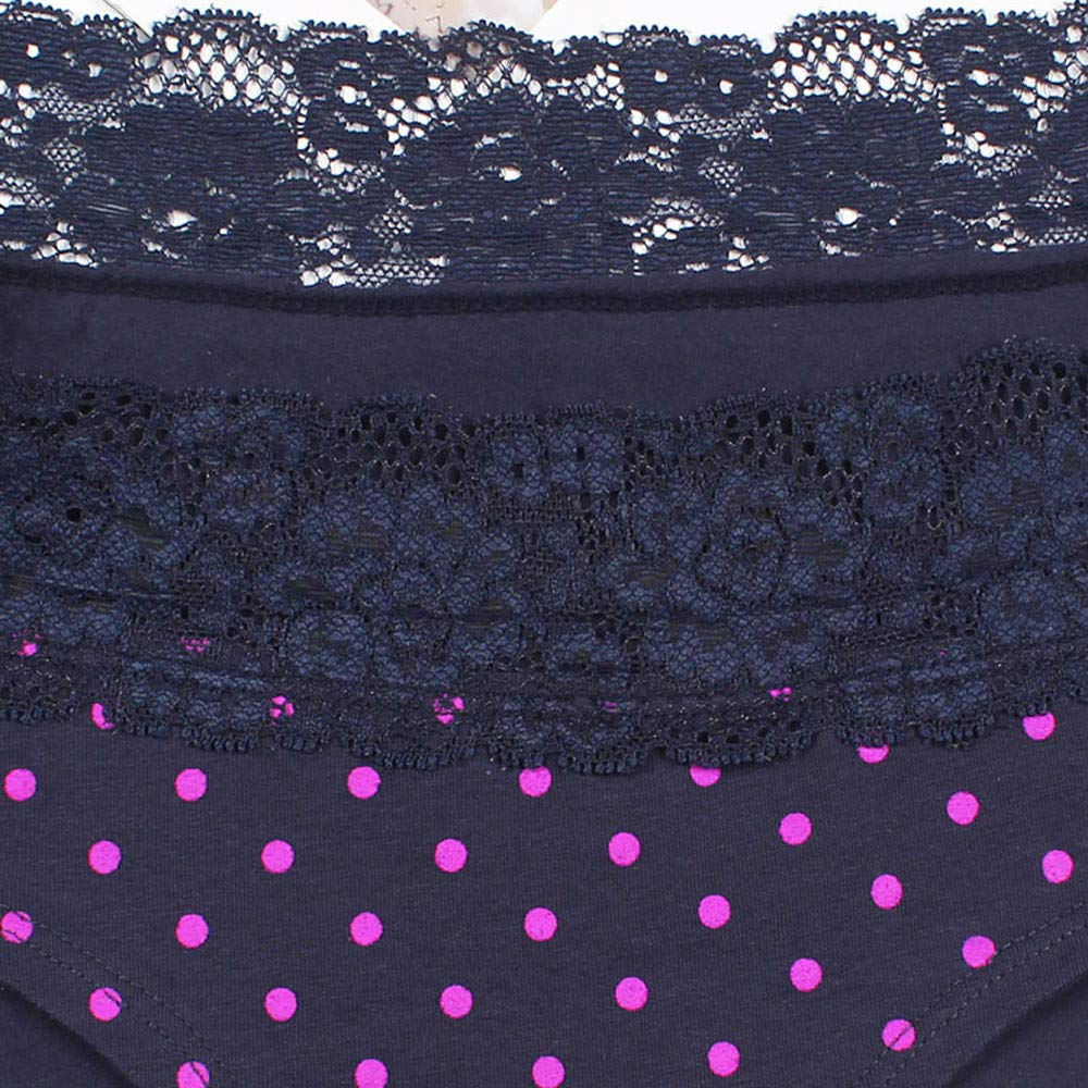 ZARLLE Algodón Bragas, Pantalones de Mujer Señoras Sexy Encaje Bikini Ropa Interior Bragas Mujer Algodón Sexy Encaje sin costurasde Bikini Mujer Bragas: ...
