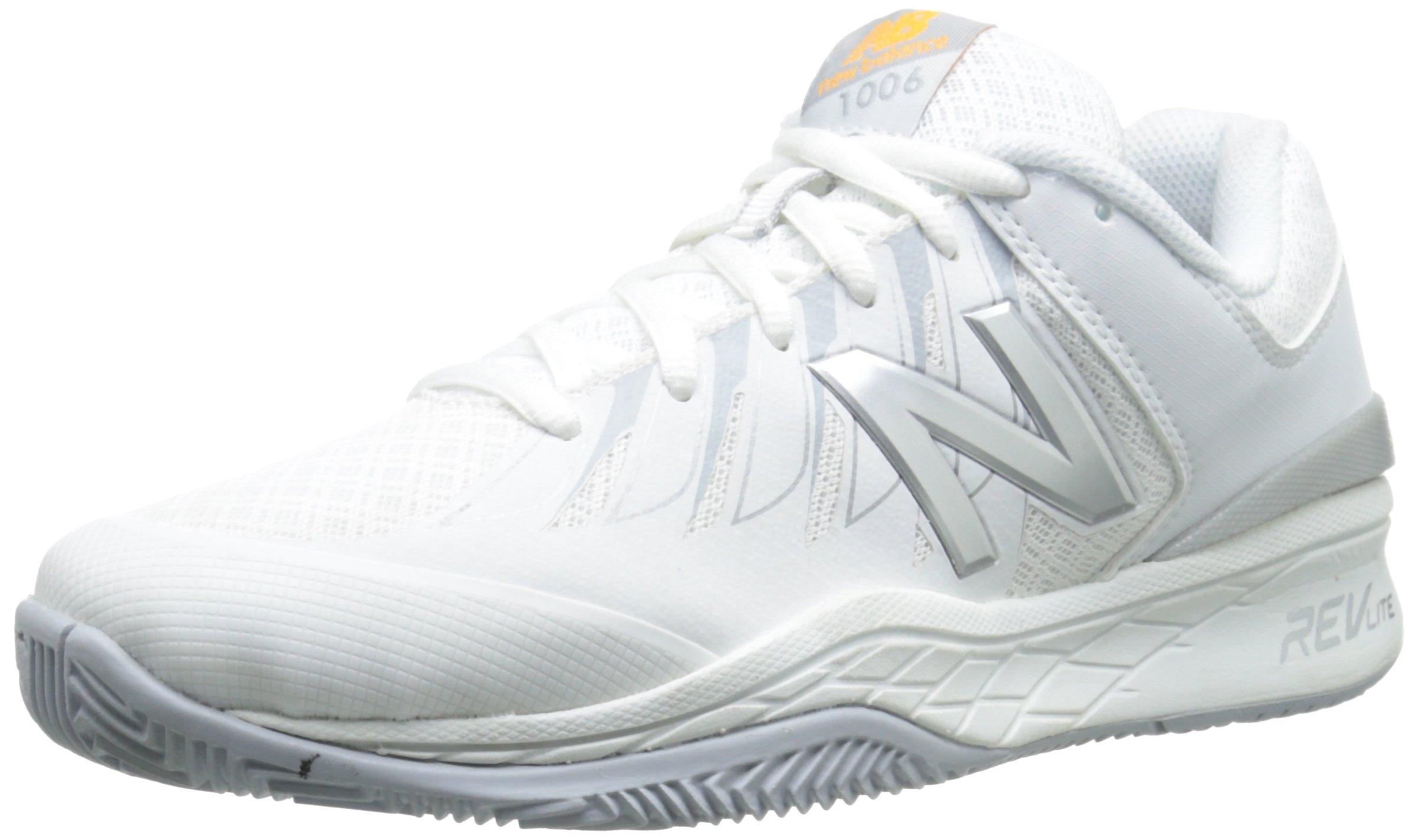 New Balance Women's WC1006v1 Tennis Shoe, White/Silver, 8.5 D US