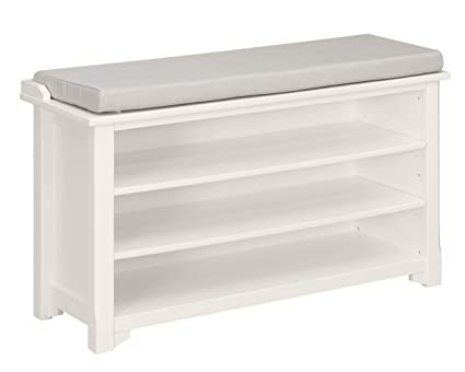 Super Ravenna Home Radcliffe Upholstered Storage Bench 40W White Short Links Chair Design For Home Short Linksinfo