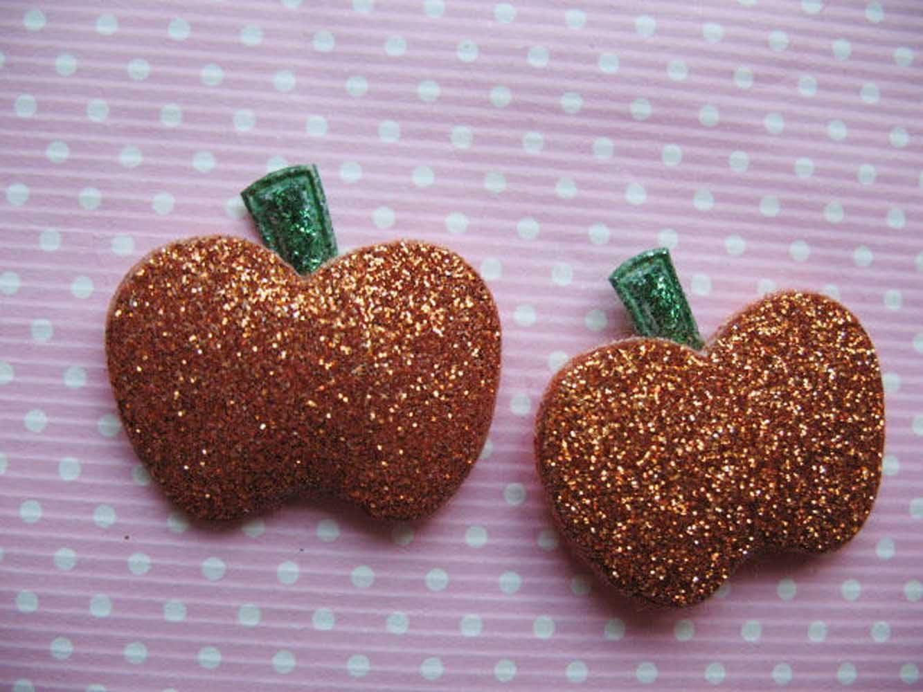 YYCRAFT Pack Of 60 Padded Glitter Pumpkin Halloween