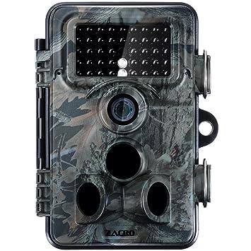 zacro 1080P Full HD Wildlife Trail Tracker Camara Trap 12MP Cámara Infrarroja con Visión Nocturna para Exterior Naturaleza Jardín Hogar Vigilancia de ...