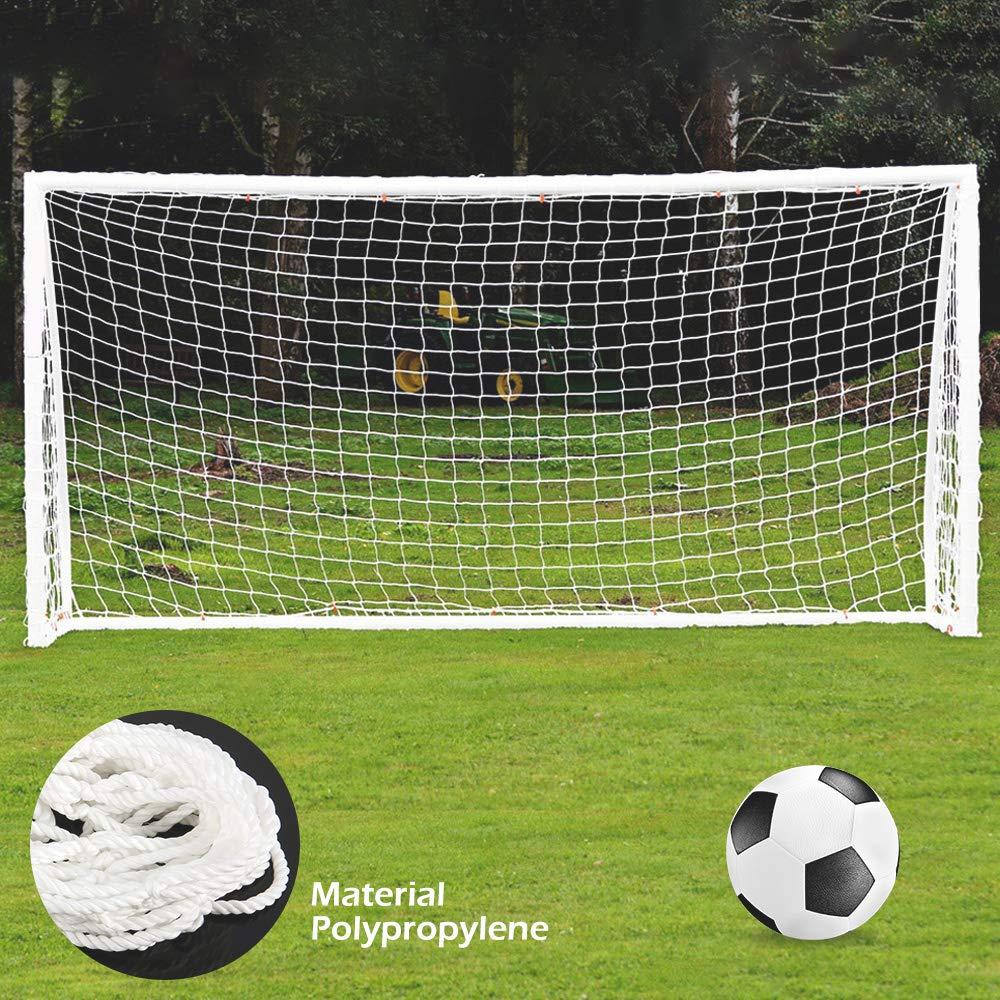 Poster Pole Pas Inclus oceanheart Filet But de Football,Sports Football R/éseau Filet de Remplacement Gardien de But Net But de Football pour Matches Formation de Football